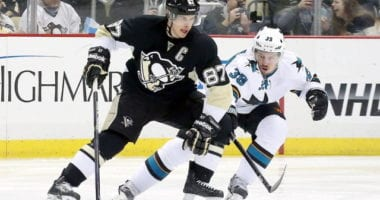 Sidney Crosby still going through the rehab process. Logan Couture has a small fracture in his left ankle