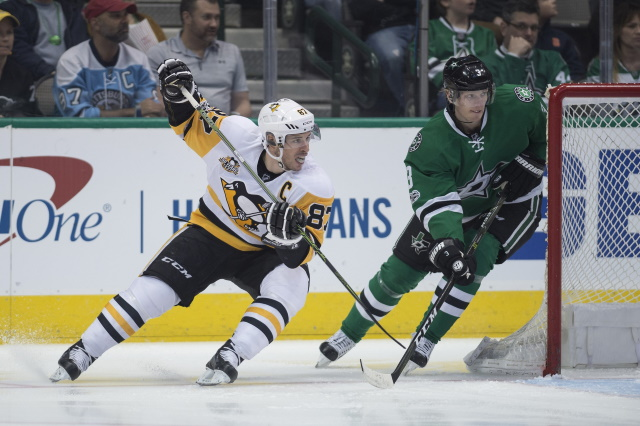 John Klingberg day-to-day. Sidney Crosby not cleared for contact yet.