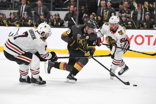 The Vegas Golden Knights could use another defenseman. What about Chicago Blackhawks Erik Gustafsson.