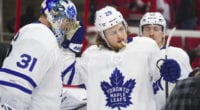 Toronto Maple Leafs William Nylander and Frederik Andersen