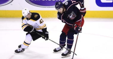 Boston Bruins Torey Krug and Columbus Blue Jackets Josh Anderson