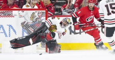 The Chicago Blackhawks might have a goaltender for the Carolina Hurricanes