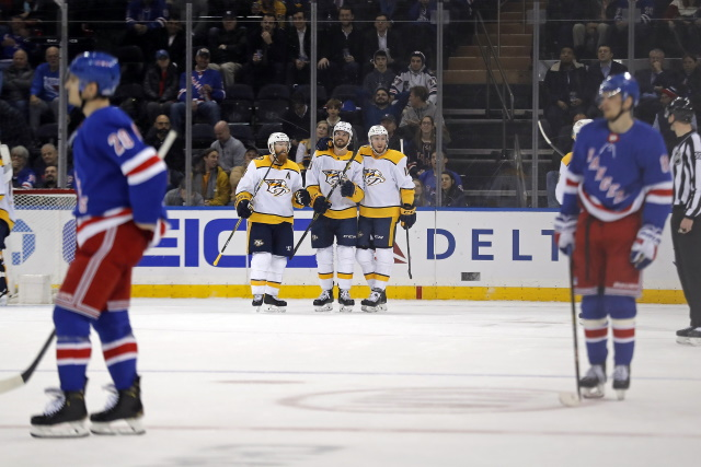 From not moving to trade possibilities - Nashville Predators and New York Rangers
