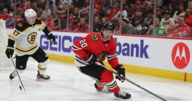 The Boston Bruins have some interest in Chicago Blackhawks' forward Brandon Saad.