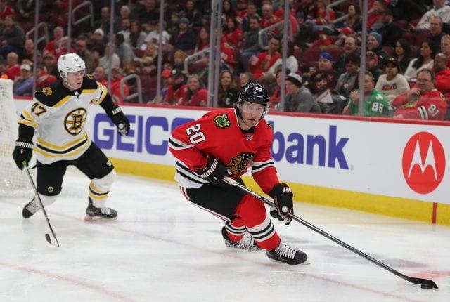 The Boston Bruins have some interest in Chicago Blackhawks' forward Brandon Saad.