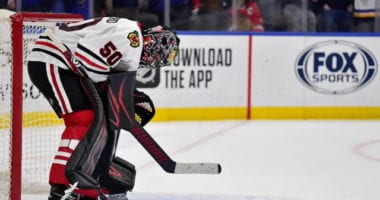 The Chicago Blackhawks don't have a No. 1 goaltender under contract for next season.