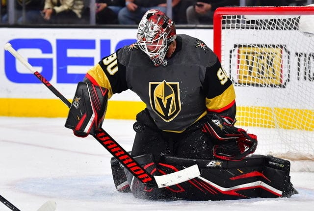 Robin Lehner not totally happy with this time in Chicago.