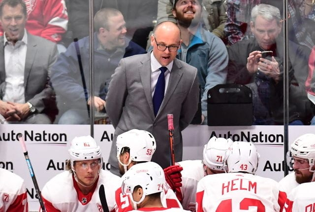 Detroit Red Wings coach Jeff Blashill realizes that he may not coach another game this season and he doesn't know how things will roll out.