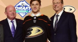 The Anaheim Ducks have signed 2019 first-round pick Trevor Zegras