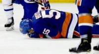 Scary scene for Islanders Johnny Boychuk