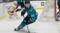 Logan Couture left last night's game after taking a puck to the head