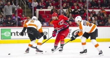NHL Injury updates for the Carolina Hurricanes, Philadelphia Flyers, and Boston Bruins.