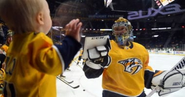 Transition happening between the pipes in Nashville. Pekka Rinne doesn't want to talk about retirement yet.