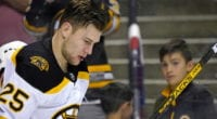 Bruins Brandon Carlo said that he was ready to return from his concussion