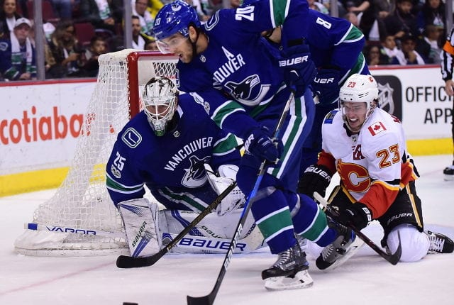 The Vancouver Canucks have pending free agents Jacob Markstrom, Chris Tanev, Tyler Toffoli, Troy Stecher and Jake Vertanen. Loui Eriksson, Brandon Sutter and Tanner Pearson could become trade candidates.