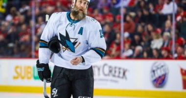 Joe Thornton shaves his beard off but reveals an injured hand?