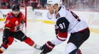 Is Taylor Hall interested in remaining with the Arizona Coyotes?