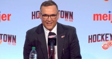 Detroit Red Wings GM Steve Yzerman not liking the idea of drafting early June.