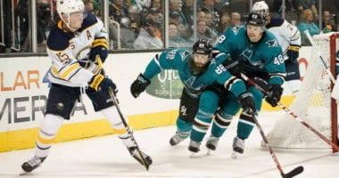 San Jose Sharks Brent Burns and Buffalo Sabres Jack Eichel