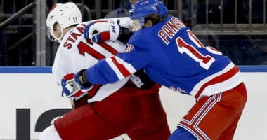 A look into the play-in matchup between the New York Rangers and the Carolina Hurricanes. Each team's strengths, weaknesses, injury updates, and playoff prediction.