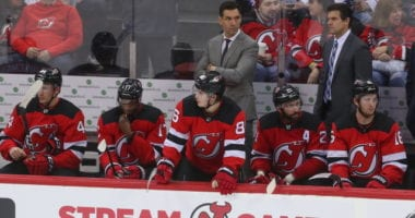 New Jersey Devils interim GM Tom Fitzgerald comments on their head coaching situation.