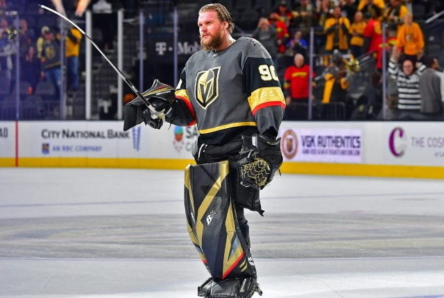 The Vegas Golden Knights won't have an easy time fitting in a new contract for Robin Lehner. The Chicago Blackhawks will face a salary cap crunch this offseason.