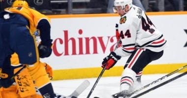 Chicago Blackhawks Calvin de Haan takes to the ice after six months of shoulder rehab.