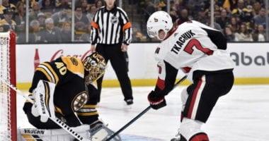 Will Boston Bruins goaltender Tuukka Rask even be back next season? The Ottawa Senators don't plan on trading their top two first rounds picks for the No. 1. Sens and Brady Tkachuk to talk extension.