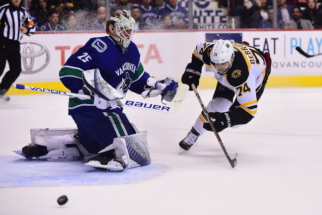 The Canucks and Markstrom were talking contract this week, but will now wait until playoffs are done. Bruins DeBrusk on his pending free agency.