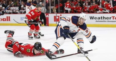 The Chicago Blackhawks were able to contain Leon Draisaitl in Game 2, but not Connor McDavid. The series is tied 1-1 heading into today's game.
