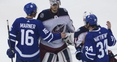 Goaltender Joonas Korpisalo bookend shutouts as the Columbus Blue Jackets eliminated the Toronto Maple Leafs in their best-of-five play-in series.