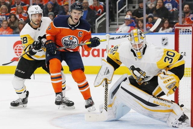 The Edmonton Oilers and Pittsburgh Penguins have talked about goaltender Matt Murray. If giving up a first-round pick for a goalie, Darcy Kuemper may be a better bet.