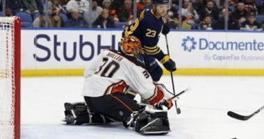 The Buffalo Sabres looking to upgrade in net and up front. Ducks pending UFA Ryan Miller gets back on the ice.