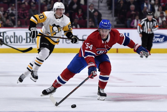 Montreal Canadiens Charles Hudon may welcome a change of scenery. The Pittsburgh Penguins need to make some moves to help fill some holes.