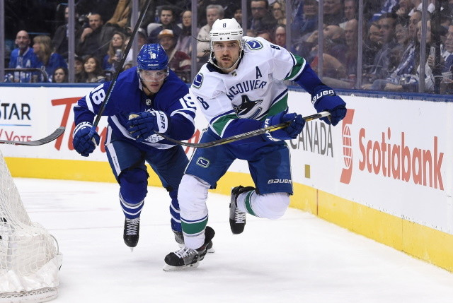 From not going anywhere to on the move for the Vancouver Canucks. Potential trade options for the Toronto Maple Leafs.