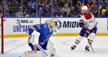 The St. Louis Blues have traded goaltender Jake Allen and a 2022 seventh-round pick to the Montreal Canadiens for a 2020 third-round pick and seventh-round pick.
