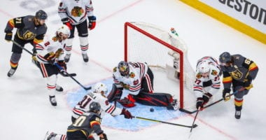 The Chicago Blackhawks don't have a lot of salary cap space to work with this offseason. They have some questions on the blue line and in net.