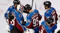 The Colorado Avalanche were forced to use their third-string goalie, Michael Hutchinson, but it didn't matter as they got off to a 5-0 first period lead over the Dallas Stars and held on 6-3.