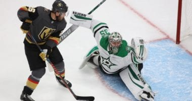 Dallas Stars goaltender Anton Khudobin turned aside 38 shots in Game 3, and shut out of the Vegas Golden Knights in Game 1 of the Conference Finals.