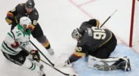 The Dallas Stars have only scored one goal on Vegas Golden Knights goaltenders Robin Lehner and Marc-Andre Fleury in the first two games of the Western Conference Finals.
