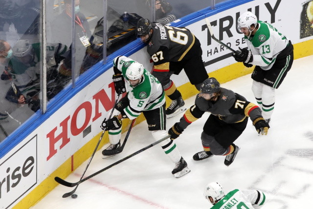 The Vegas Golden Knights couldn't hold on to a two goal lead in the third Monday night, and their top forwards were held pointless.