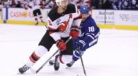 The Toronto Maple Leafs have traded forward Andreas Johnsson to the New Jersey Devils for forward Joey Anderson.