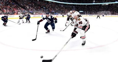 The Chicago Blackhawks trade Brandon Saad and defenseman Dennis Gilbert to the Colorado Avalanche for defensemen Nikita Zadorov and Anton Lindholm.
