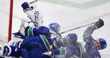 Bridge deals for Quinn Hughes and Elias Pettersson? The Toronto Maple Leafs to carry a reduced roster this season.