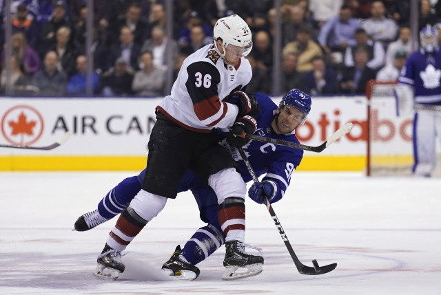 Fischer signs a two-year deal with the Coyotes. Flames sign Nordstrom. Avalanche and Canucks lock up two each.