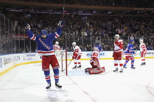 Strome and Rangers file arbitration numbers. Stars will continue to look at the free agent and trade market. Red Wings will have plenty of cap space again next offseason.