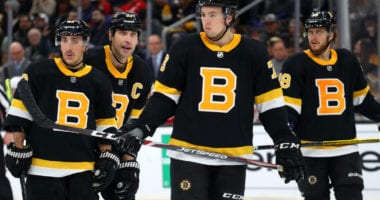 Boston Bruins notes on Zdeno Chara, Charlie McAvoy, Brandon Carlo and Jake DeBrusk