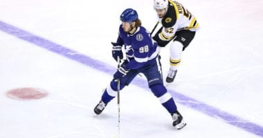The Tampa Bay Lightning have re-signed restricted free agent defenseman Mikhail Sergachev to a three-year contract worth $14.4 million, a $4.8 million salary cap hit.