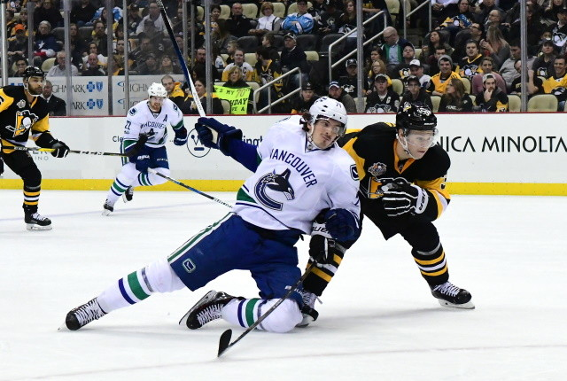 It may not be worth it for the Canucks to send Loui Eriksson to the AHL. Penguins don't have a lot of future assets left, and the Seattle Kraken expansion draft.