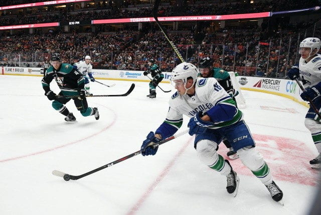 The Anaheim Ducks and Vancouver Canucks having trouble making the money work in a Jake Virtanen-Danton Heinen deal. Teams wanting to move the 2021 NHL draft back.